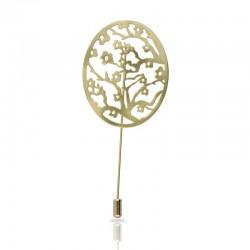 Broche Almendro en flor Dorado