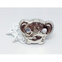Chupetero elefante de plata