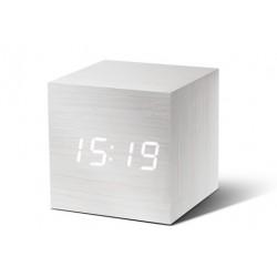 Despertador Cube Madera blanca