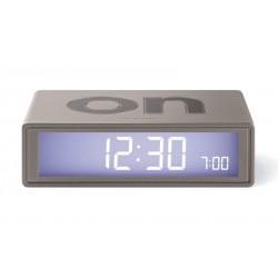 Despertador Flip Lexon Plata