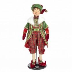 Elfo grande Verde/Rojo