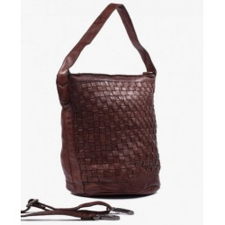 BOLSO  TRENZADA MARRON THE...
