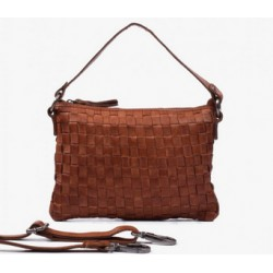BOLSO  TRENZADO MARRON THE...