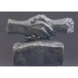 """Escultura """"El pacto"""" Miro"""