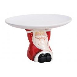 Plato con Santa Navidad